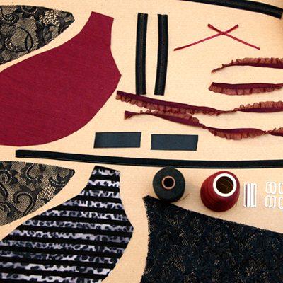 Alle Kurzwaren und Schnitte zur Herstellung von k.triny* Dessous werden mit Liebe gefertigt und zusammengestellt