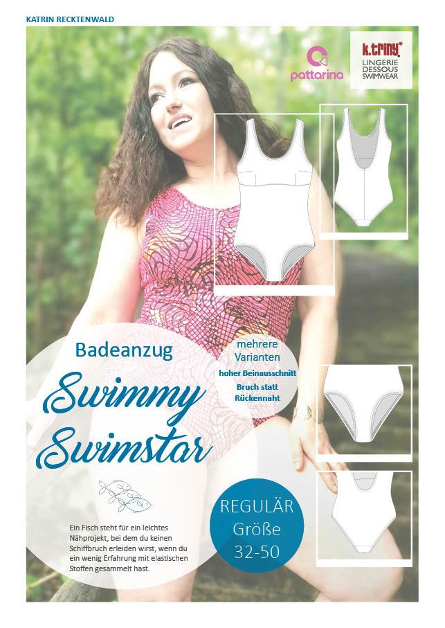 Damenbadeanzug Schnittmuster, Badeanzug nähen